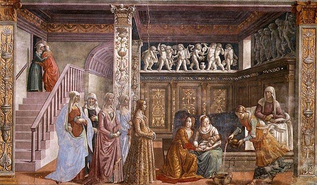 Cappella_tornabuoni,_02,_nascita_della_vergine