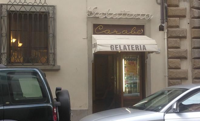 フィレンツェのジェラート屋さんカラベ