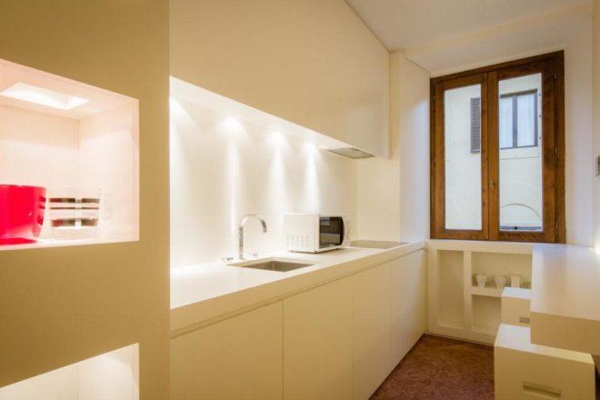 フィレンンツェの滞在型アパート、ドナテッロのキッチン