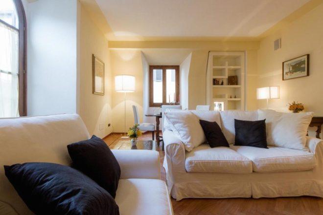 フィレンンツェの滞在型アパート、ドナテッロのリビング