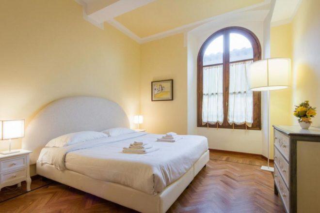 フィレンンツェの滞在型アパート、ドナテッロの寝室