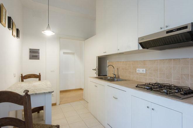 フィレンツェの滞在型アパート、アルノブリッジビューのキッチン