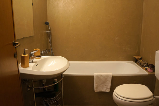 フィレンツェのアパート、フェデリギ浴室バスタブタイプ