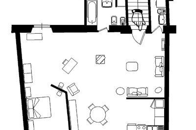 フィレンツェのアパート、ティエーポロの見取り図