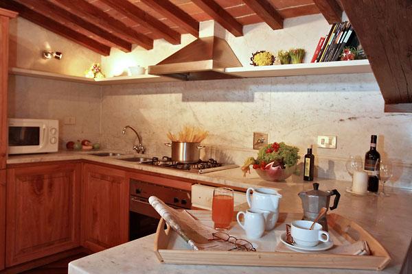 フィレンツェのアパート、ティエーポロのキッチン
