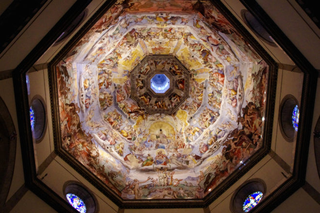 フィレンツェ、クーポラのフレスコ画