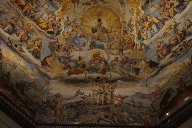 フィレンツェの大聖堂天井