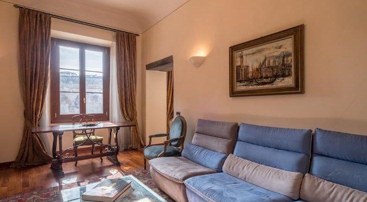 フィレンツェのアパート、シニョリーアビスタのリビング