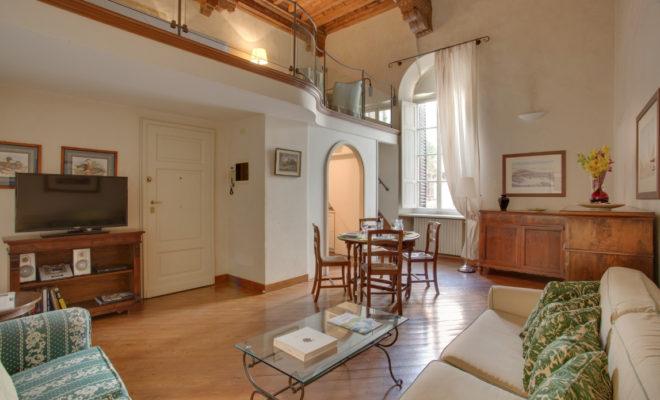 フィレンツェのアパート、サンマルコのリビング