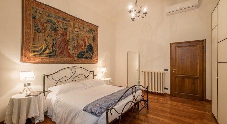 フィレンツェのアパート、シニョリーアビスタの寝室ダブルタイプ