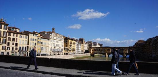 フィレンツェのアルノ河