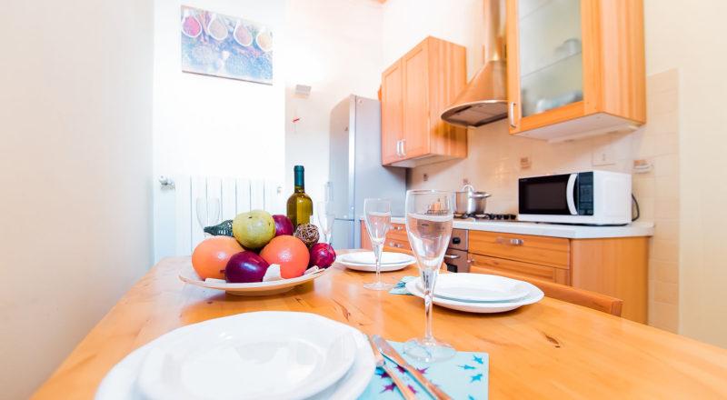 ローマのアパート、カンディアのキッチン
