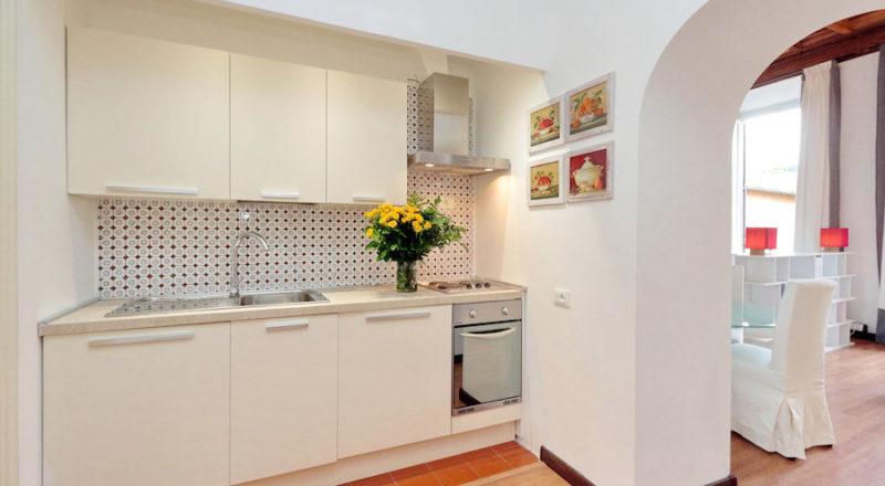 ローマの滞在型アパートカプラーニカのキッチン